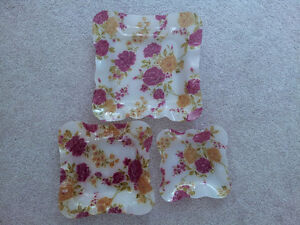 NEW High-quality Floral Serving Trays - Set of 3