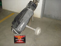 Golf Clubs in Bag with Cart