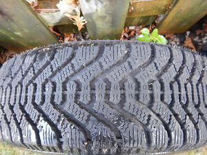 4 Goodyear Nordic Winter Tires with Rims Cambridge Kitchener Area image 4