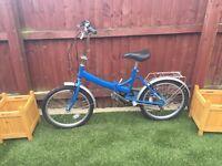 Raleigh blue folding travel bike cycle