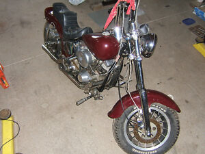 102 C.I shovelhead chopper on a ridged frame