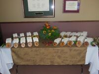 Birch logs for table seating arrangement cards