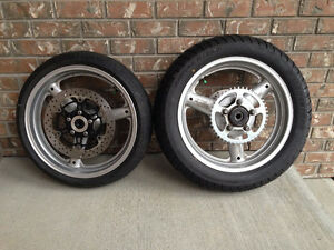 *****SUZUKI SV 650 COMPLETE WHEELS WITH ROTORS, SPROCKETS,TIRES*