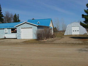 House and Insulated Quonset (approx. 32x50 ft) in Zenon Park.
