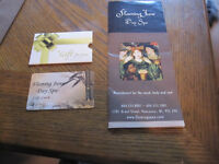 SELLING FOR  HALF PRICE! a $50 Gift Card to FLAMING JUNE SPA