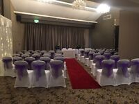 Chair cover hire, LOVE Letters, backdrops - Weddings/birthdays/christenings