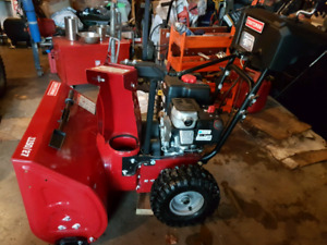 "27"" cut Craftsman snowblower"