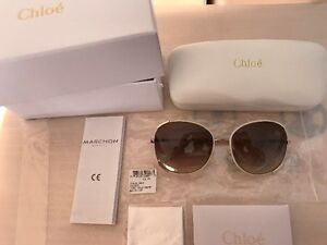 Chloe Gold and Cream CE 101SL Sunglasses Authentic OBO