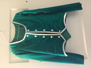 Emerald green highland jacket