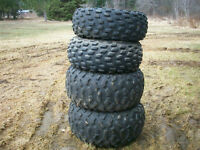 tires off a suzuki quad runer