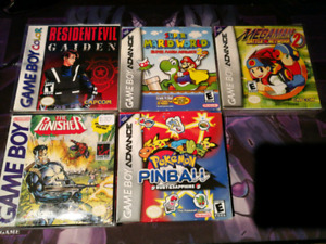 MANY    NINTENDO DS & GAMEBOY ADVANCE GAMES. LOOSE AND CIB