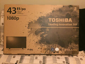 "43"" Toshiba Flat Screen TV"