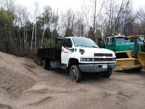 Low Kms GMC C5500 4x4 with Plow