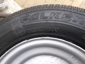 145x10 trailer wheel and tyre