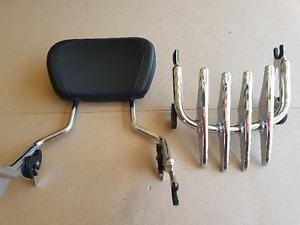 Harley Detachable Sissy Bar - Stealth Luggage Rack - Pillion