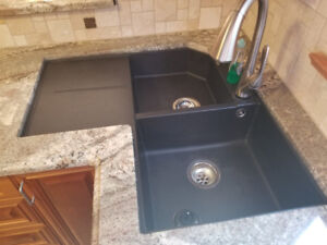 Corner kitchen sink and Faucet