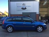 2005/05 Renault Megane 1.9dCi 120bhp Dynamique DIESEL ESTATE 5 DR Metallic Blue