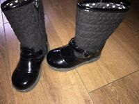 Girls size 9 black boots
