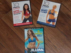 DVD D'EXERCICES (anglais)/FITNESS DVD **$5 for all**