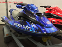 Two 2001 Sea Doo GTX DI 1000 cc 130 Hp 3 person PWC + Trailer