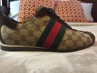 100% Real Men's Gucci shoes Size 9 .
