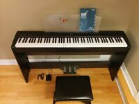 YAMAHA Digital Piano (P-85), Keyboard Stand (L-85), Pedal Unit..