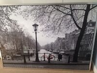 Extra large canvas wall picture Amsterdam