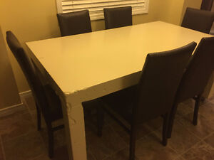 7 Piece Modern Dining  Table Set