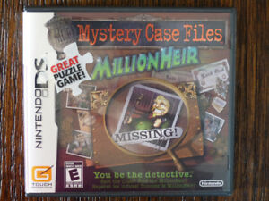 Nintendo DS - Mystery Case Files Millionheir puzzle game