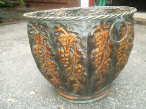 LARGE DECORATIVE BRASS PLANTER
