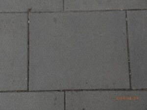 Diamond grid patio stones