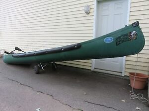 "16' Transom Back ""SPORTSPAL"" Canoe with Electric Motor"