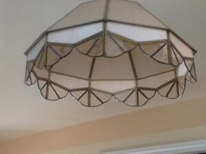 REDUCED!! 2 Stained Glass hanging lights