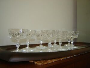 8 Antique crystal cocktail or dessert stemmed dishes London Ontario image 1