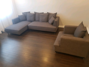 Sectional Couch & chair / sofa sectionnel & fauteuil