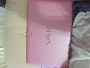 Pink Sony laptop