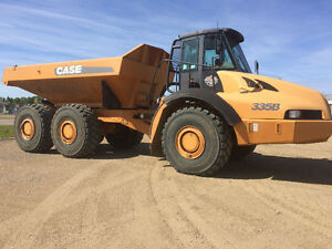 Case 340B-335B rock trucks