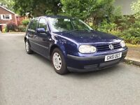 Volkswagen Golf immaculate car inside and out. Long Mot and full service history