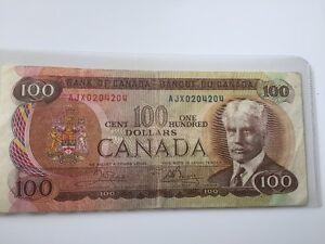 Beau Billet de 100.00 dollars 1975
