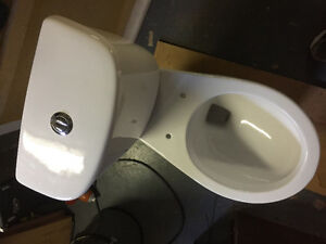 "15"" High White Chelini Marriot Dual Flush Lined Toilet"