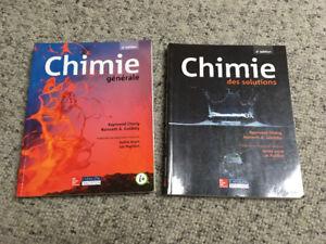 Livres de chimie - chime générale et chimie des solutions