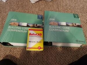 2006 Ontario Building Code Volumes 1 & 2 with Auto CAD Book