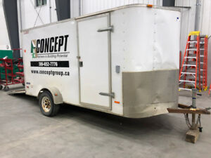 BID NOW-14' Pace American Journey Trailer, electrified,side door
