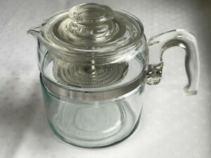 Vintage glass Pyrex 6-cup percolator