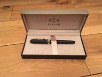 Parker Sonnet Matte Black Gold Pen RRP: £69.99