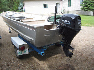 For Sale: 16ft boat, 20hp motor and Trailer
