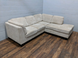 (Free Delivery) - Microsuede sectional sofa