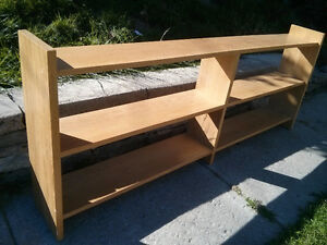 Oak veneer book shelf