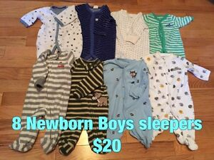 Baby Boy sleepers / shirts / Swaddles / etc