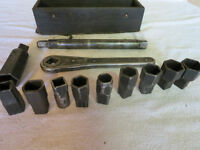 Antique socket wrench set